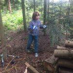 Projekt Zaunbau mit den Kindern